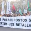 Vaga de mestres i professors: aturada i manifestacions