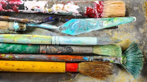 Dirty-Paint-Brushes
