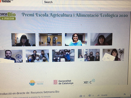 Foto virtual dels guanyadors del Premi Escola Agricultura i Alim